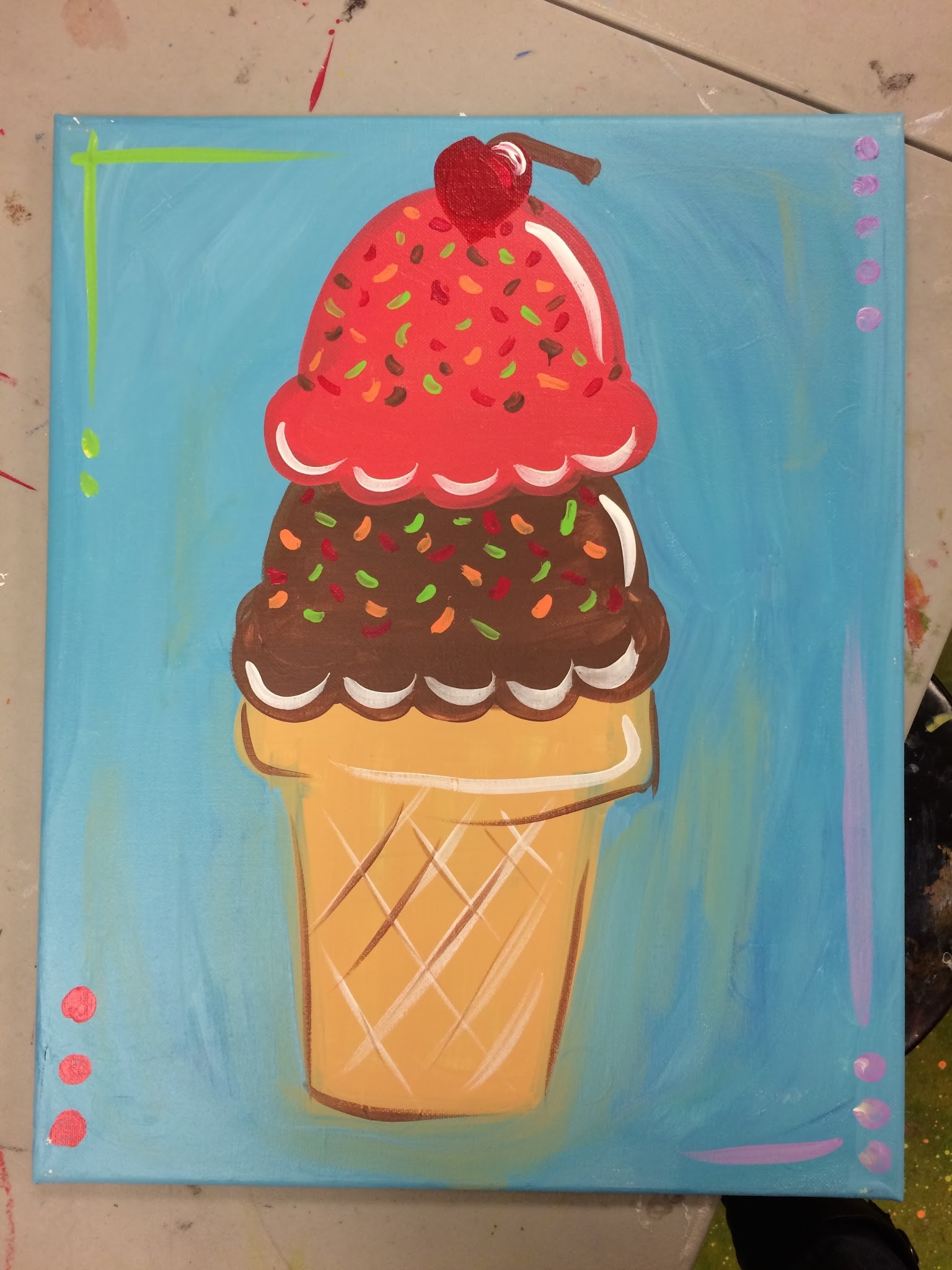 Canvas painting camp for kids canton woodstock ga for Childrens canvas ideas
