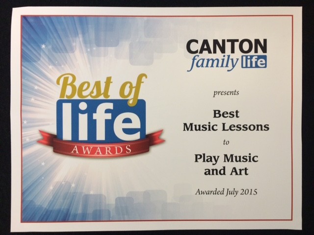 Best of Family Life Award Certif - Canton Arts Academy